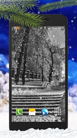 android Schnee Live-Hintergründe Screenshot 1
