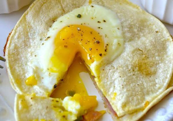 Baked Egg And Ham Tortillas Recipe