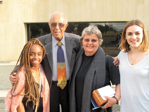 Cherish Nicole Cobb, Ahmed Kathrada, Barbara Hogan and Emily Rizzo.