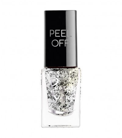 Nagellack peel off silver glitter - 5ml