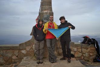 Photo: L'Abde, el Martí i un amic dalt del Matagalls (1.698m)