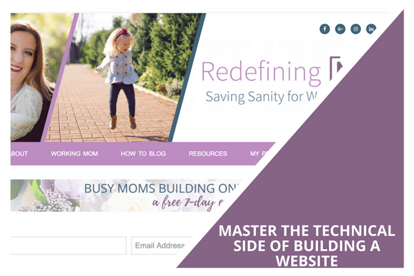 master the technical side of building a website