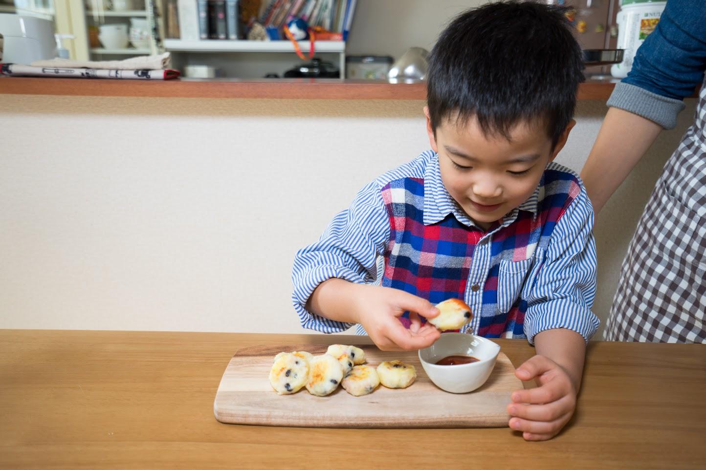 黒千石レシピ:黒千石大豆のおつまみポテト:寿くん大満足