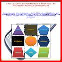 Calcula perímetros y áreas de figuras geométricas icon