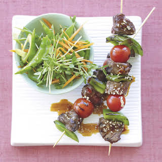 Sweet Chili and Sesame Beef Skewers.