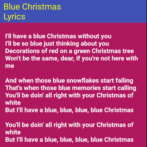 blue christmas apps on google play - I Ll Have A Blue Christmas Lyrics