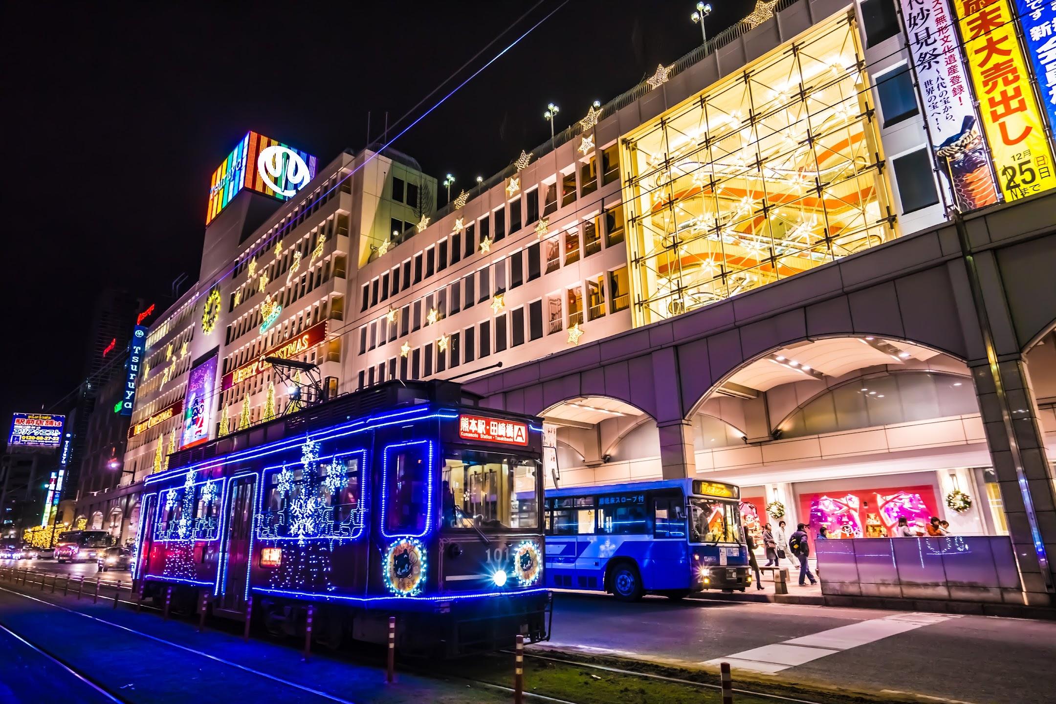 熊本 夜 鶴屋百貨店1