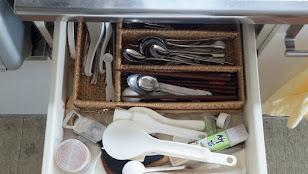 キッチンのシンクの一番上の引き出し