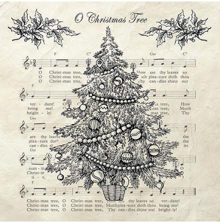 Servetter - Christmas tree. svart