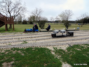 Photo: JT Bailey's critter and riding car in the foreground and Daris Nevil with JT Bailey riding by. HALS Chili Fest Meet 2014-0228 RPW