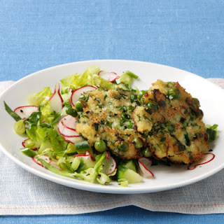 Chopped Salad with Couscous Fritters