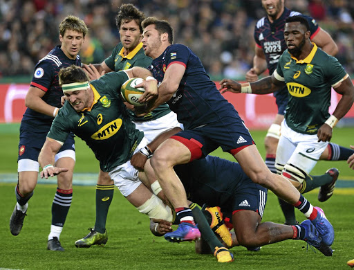 France can't hold the Lion: Jaco Kriel breaks through in the third test. Picture: GALLO IMAGES/GETTY IMAGES/LEE WARREN