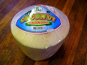 Photo: young coconut for coconut sorbet