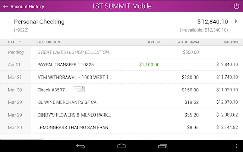 1ST SUMMIT BANK screenshot 6