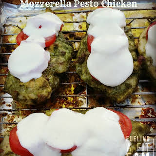 Tomato Mozerella Pesto Chicken.