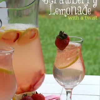Strawberry Lemonade with a Twist Drink.