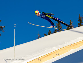 Photo: World Cup Ski flying Vikersund HS225 - Johan Remen Evensen - the new holder of the world record of 246,5 meters