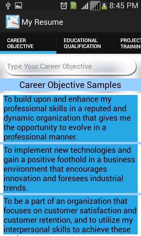 My resume maker