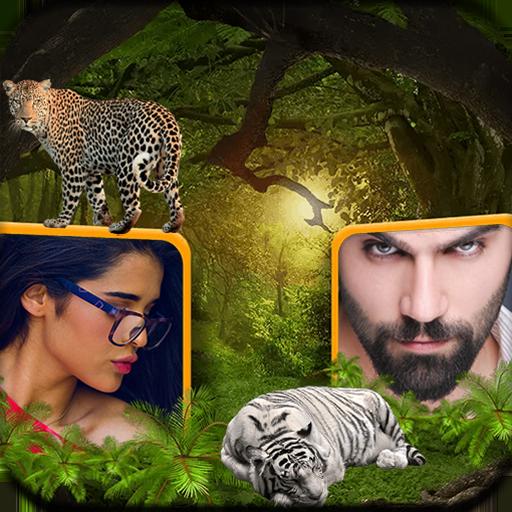 Jungle Dual Photo & Wallpaper Maker Icon