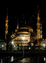 Photo: From the photo archive.  One of the cities I visited only briefly and still fell in love with was Istanbul. This photo is from my first night there. I was alone in taking a cab from the airport, and glimpsed something enormous out the car window as I neared my hotel.  I checked in, took 30 minute nap and went outside and strolled in the direction I thought I saw something interesting. The city was utterly silent. Two-storey buildings blocked my view of anything large until I rounded a corner.  Then, one of the most magnificent buildings I'd ever seen, loomed on the hill right in front of me. It felt like something out of Tolkien. Around the dome and spires glided enormous white birds, with wingspans that had to rival the great albatross. They darted and swooped, but with grace, around each other. Not dancing together, but in some grand scheme that it seemed I could figure out if I watched long enough.  I had a vague understanding that it was a religious building, but the only numinous feeling I got all week was in watching those birds soar.