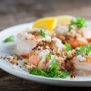 Roasted Shrimp with Bread Crumbs.