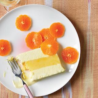 Vanilla Semifreddo and Orange Sorbet Terrine.