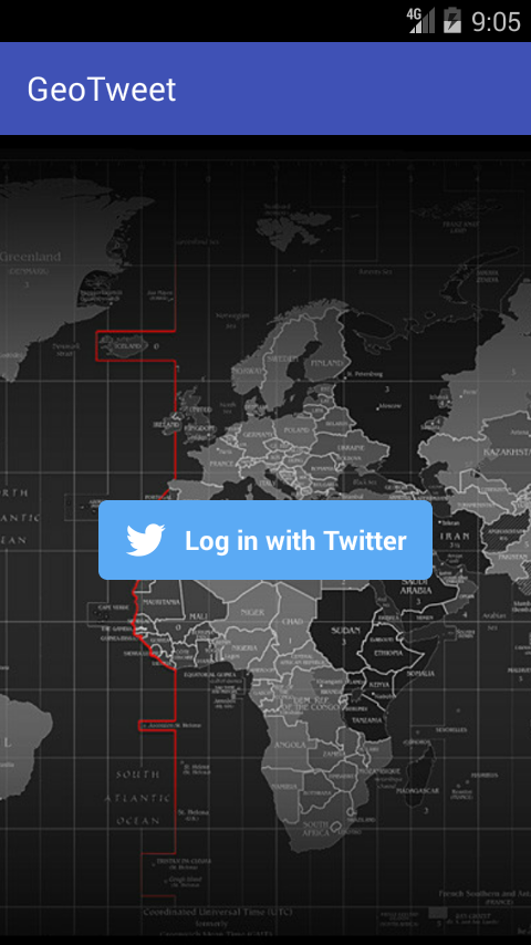 GeoTweet- screenshot