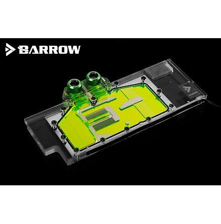 Barrow vannblokk for skjermkort RTX 2080 og 2080 Ti RGB - Nickel