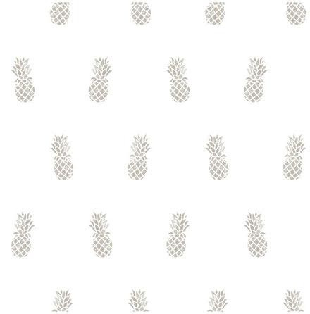 Christiana Masi Hashtag 11007 Tapet med små ananasfrukter, Grå/Vit
