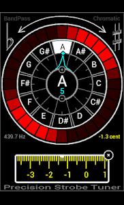 Precision Strobe Tuner Demo screenshot 1
