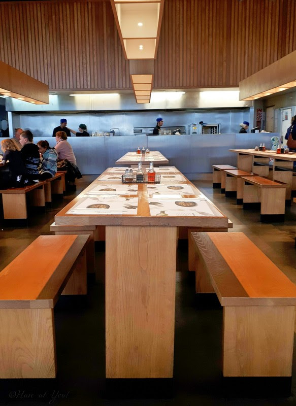 Wagamama's communal tables