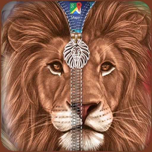 个人化のライオンジッパーロック LOGO-記事Game