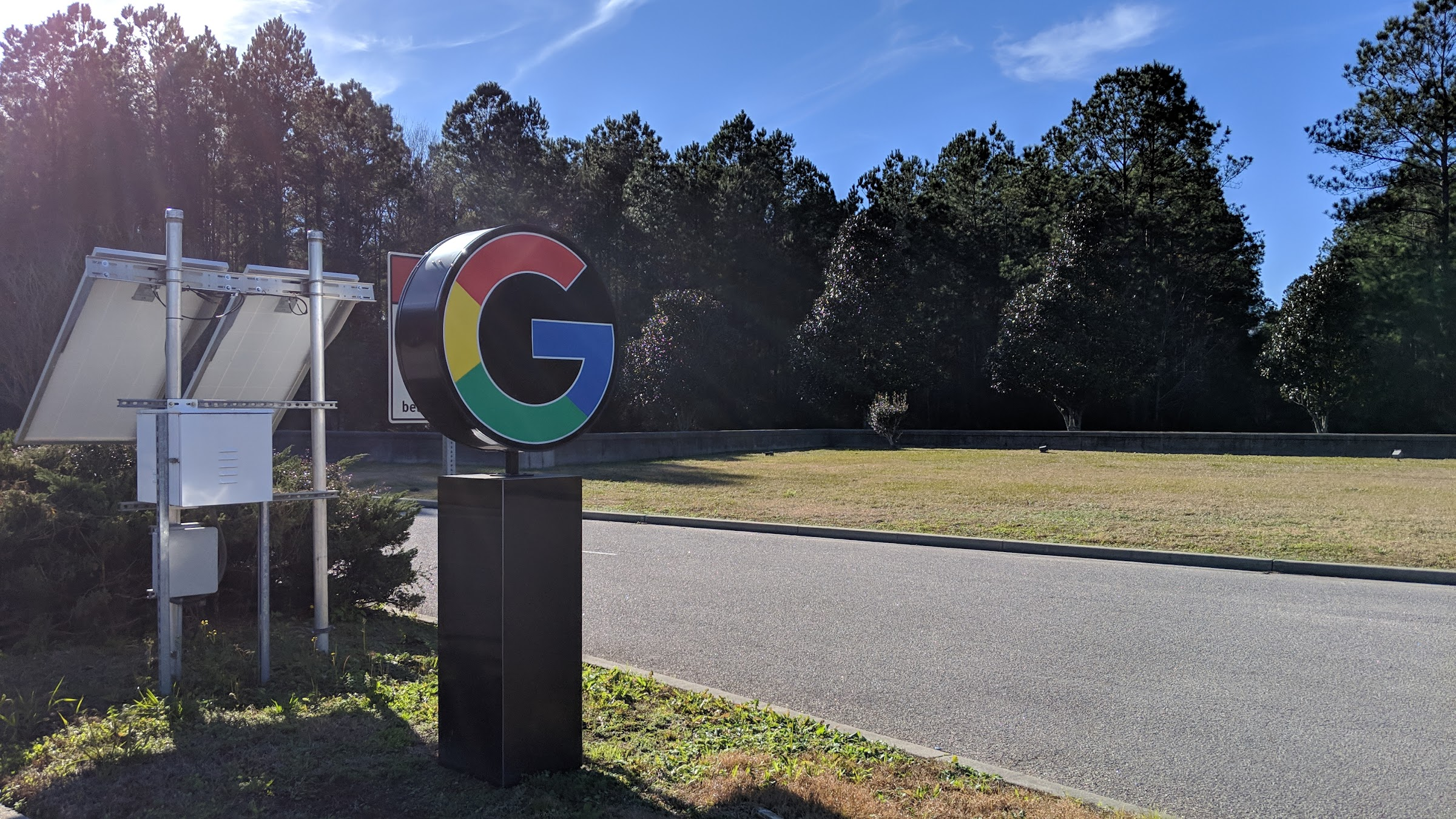 Google Berkeley County SC data center entrance