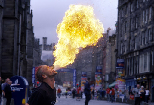 A performer at the Edinburgh Festival Fringe, the largest arts festival in the world