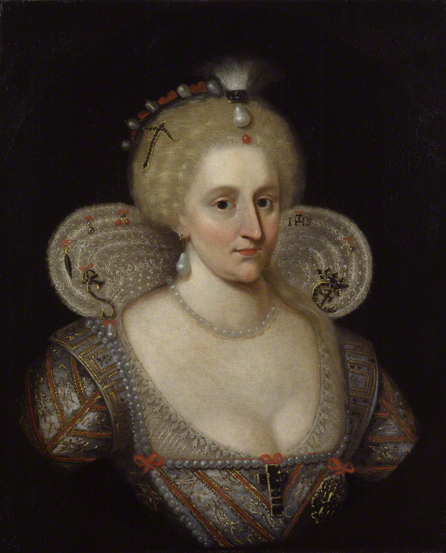 Anne of Denmark, after Paul van Somer, 17th century (circa 1617) - NPG 127 - © National Portrait Gallery, London