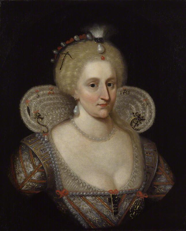 Anne of Denmark, after Paul van Somer, 17th century (circa 1617) - NPG 127 - © National Portrait Gallery, London