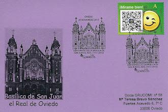Photo: Tarjeta con el matasellos del Centenario de la Basílica de San Juan el Real de Oviedo