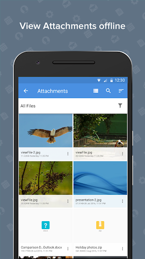 Screenshot 6 for Zoho Mail's Android app'