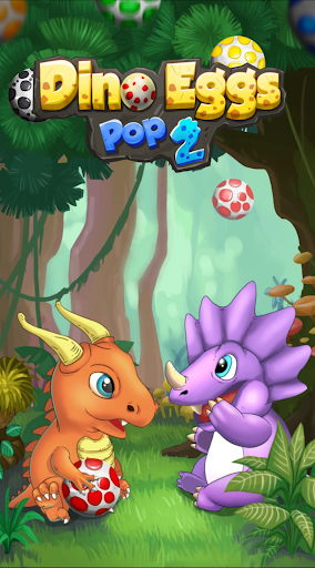 Screenshot for Dinosaur Eggs Pop 2: Rescue Buddies Bubble Shooter in United States Play Store