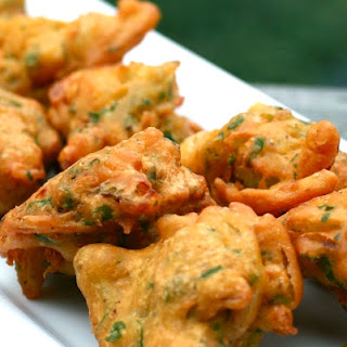 Onion & Spinach Pakoras.