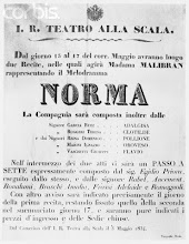 Photo: 1834, Milan, Italy --- Poster for <Norma> Libretto by Vincenzo Bellini in 1834 at La Scalla Theater in Milan, Italy. --- Image by © Bettmann/CORBIS