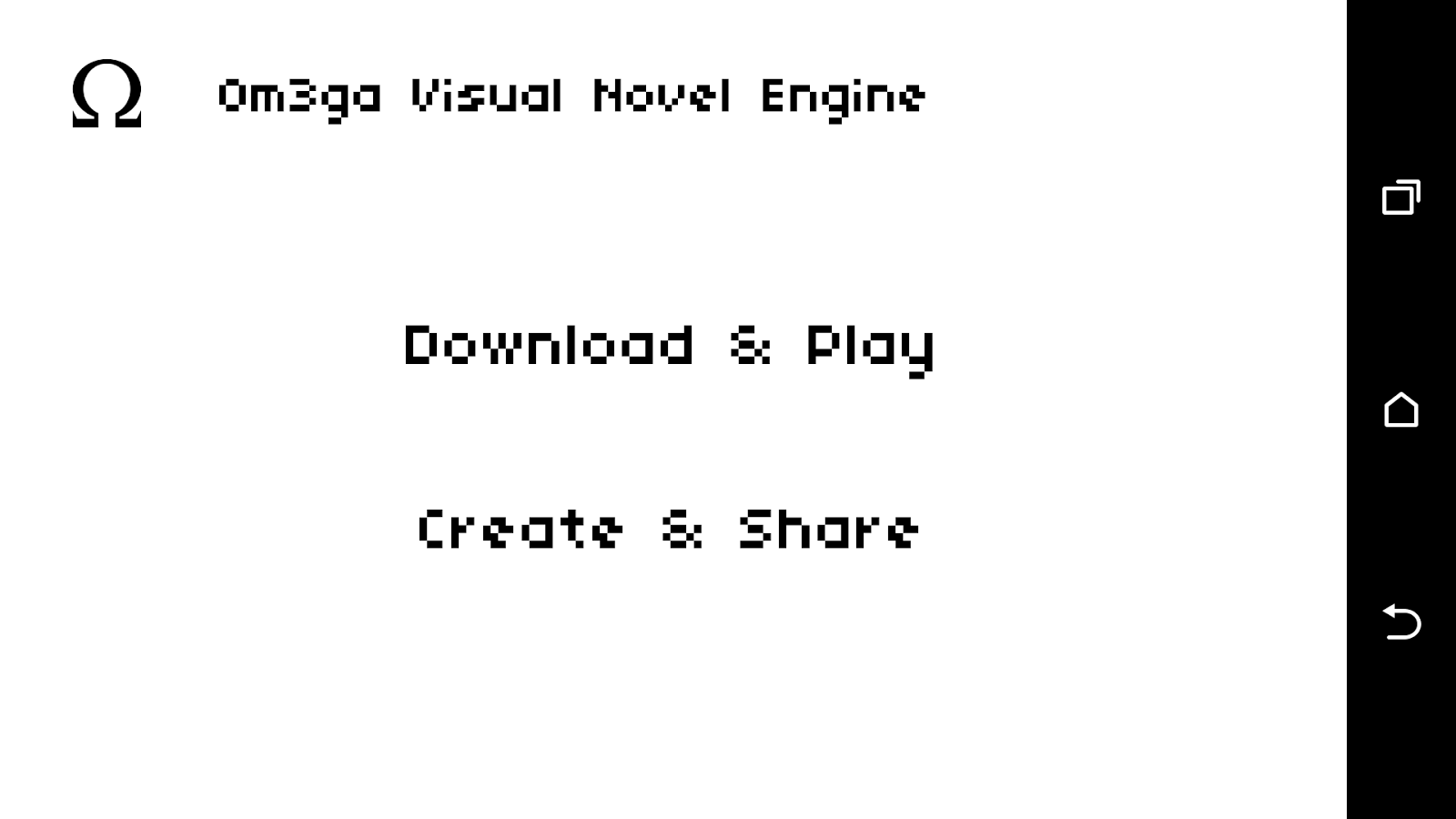Visual Novel Engine- screenshot
