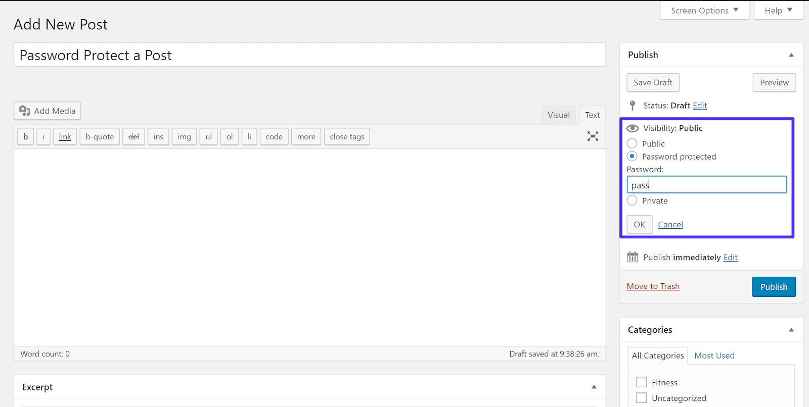 Nơi tìm các cài đặt Hiển thị của WordPress