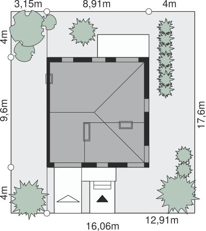 Dom przy Miedzianej - Sytuacja