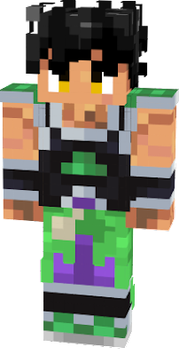 DBS Broly skin edited with removable armor. Ikari form eyes.
