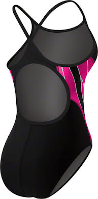 TYR Phoenix Diamondfit Women's Swimsuit: Black/Pink alternate image 0
