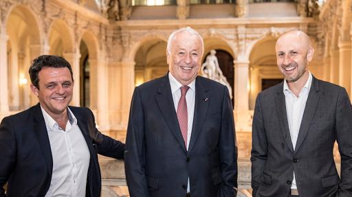 Alain Mérieux, Laurent Fiard et Joël Tronchon