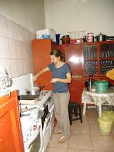 Photo: ...della cottura delle tagliatelle preparate da Francesca!