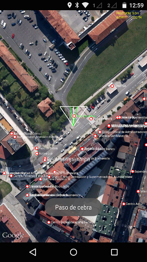 Lazzus: blind gps assistant- screenshot