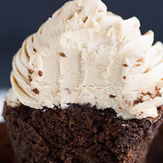 Mocha Cupcakes with Espresso Buttercream Frosting.